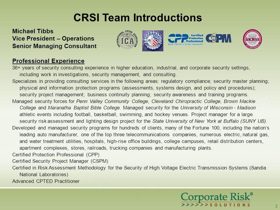 4 CRSI Team Introductions D.
