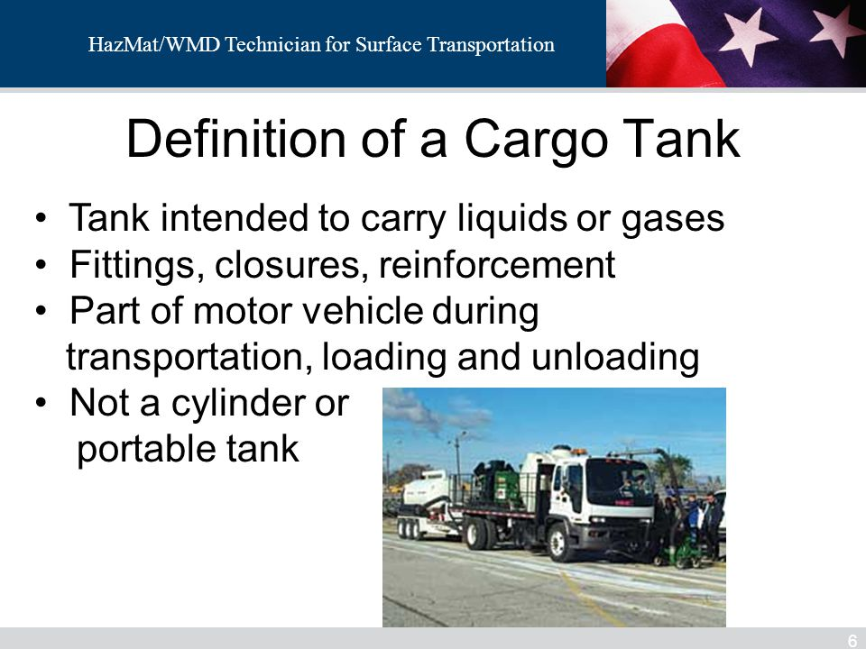 HazMat/WMD Technician for Surface Transportation MC331-Markings 57 Stenciled with the proper shipping name must appear on the sides and ends of the tank.