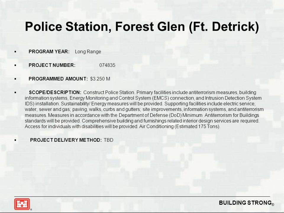 BUILDING STRONG ® Police Station, Forest Glen (Ft.