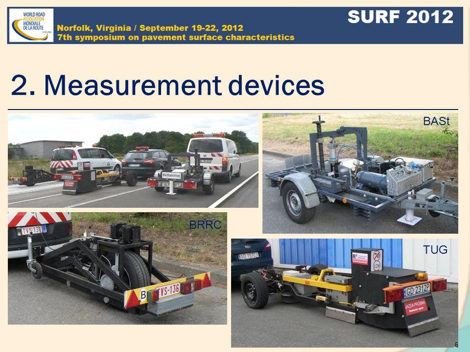 2. Measurement devices BASt TUG BRRC 6