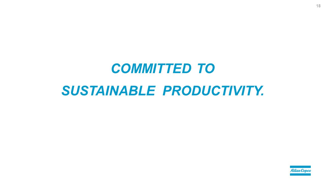 COMMITTED TO SUSTAINABLE PRODUCTIVITY. 18
