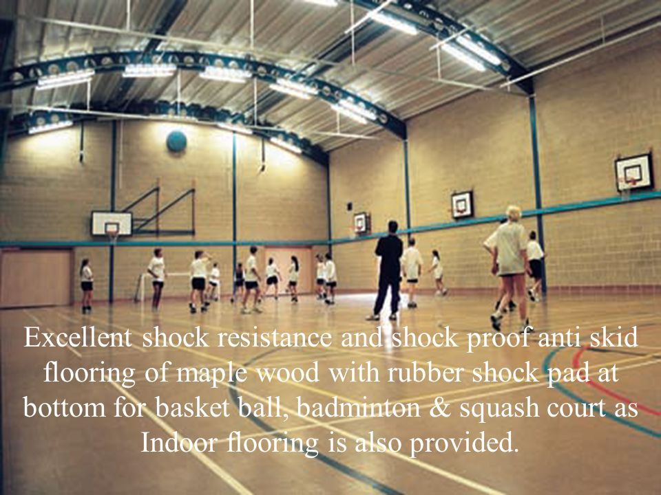 In professional or organized basketball / volley ball, especially when played indoors, it is usually made out of a wood, and highly polished.