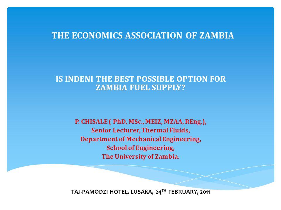 THE ECONOMICS ASSOCIATION OF ZAMBIA P.