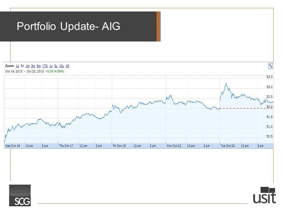 Portfolio Update- AIG