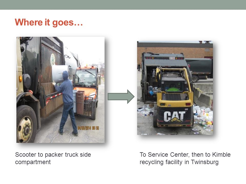Disposal of large items Self-serve Residents only Service Center, 15600 Chagrin Blvd.