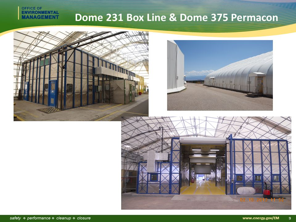 www.energy.gov/EM 9 Dome 231 Box Line & Dome 375 Permacon