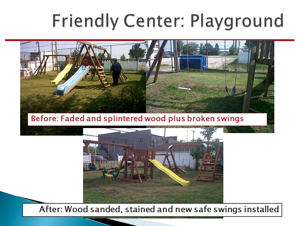 Before: grassy open area After: Fun sandbox with seating