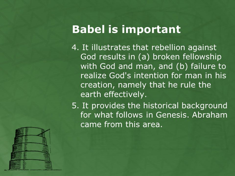 Babel is important 4.