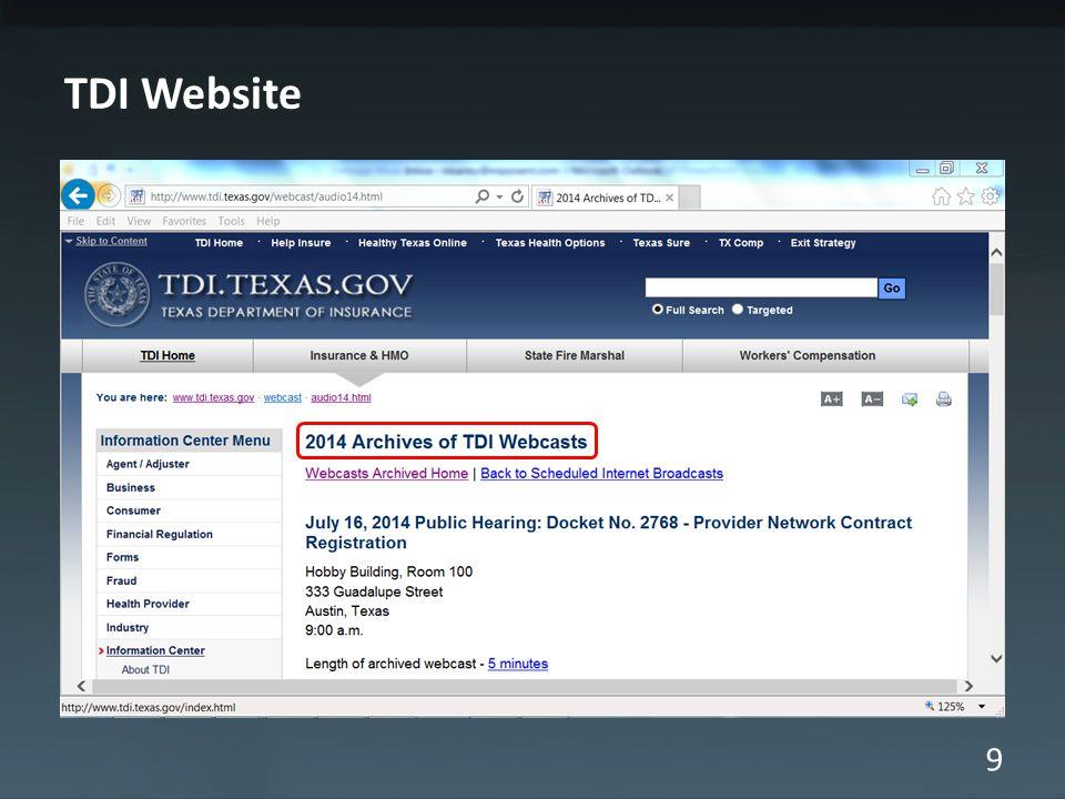 9 TDI Website