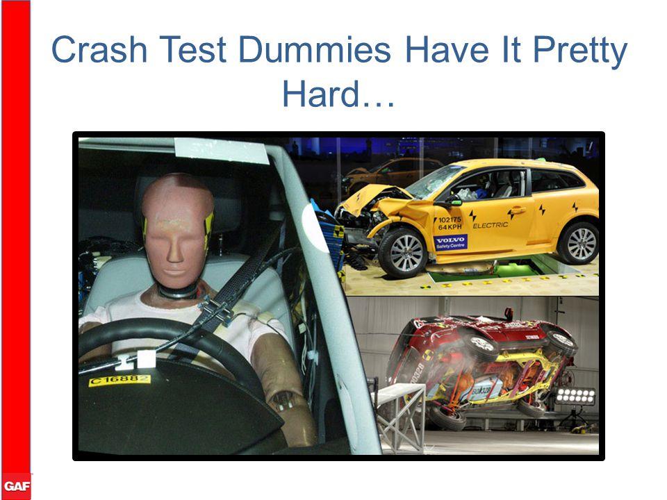 Crash Test Dummies Have It Pretty Hard…