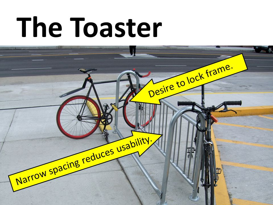 The Toaster Narrow spacing reduces usability. Desire to lock frame.