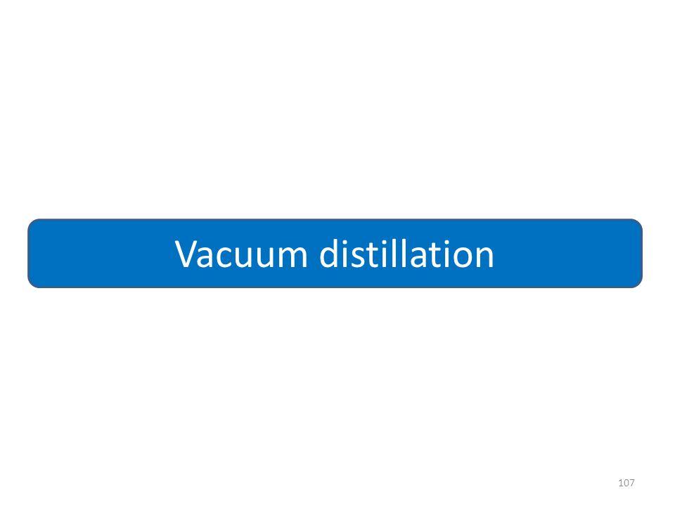 107 Vacuum distillation