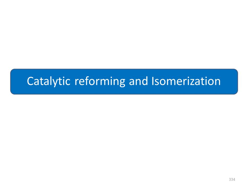 334 Catalytic reforming and Isomerization