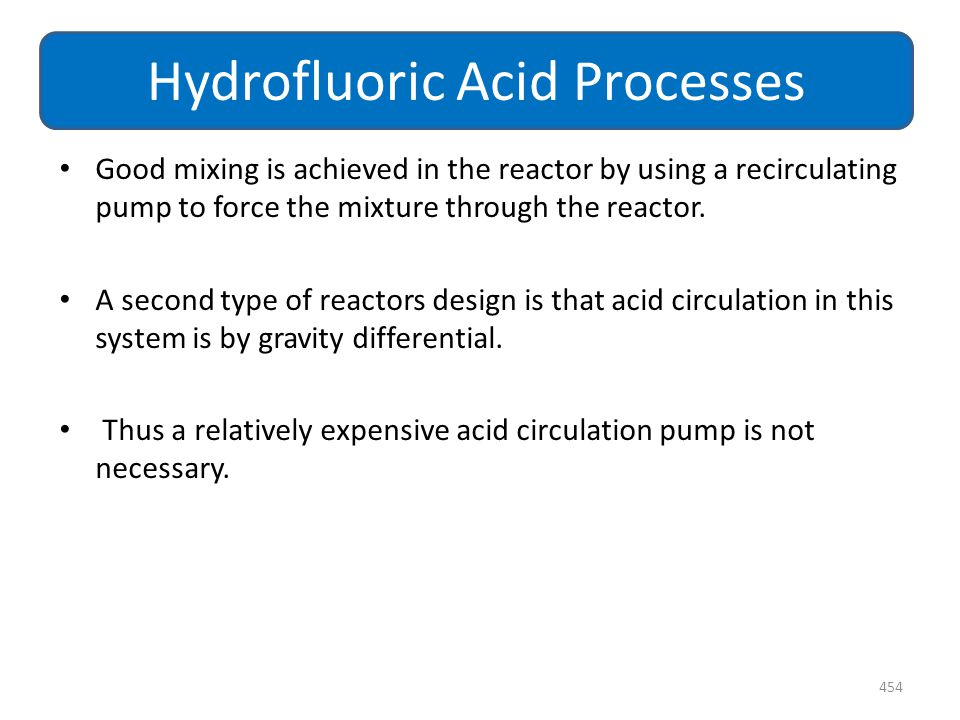 Good mixing is achieved in the reactor by using a recirculating pump to force the mixture through the reactor. A second type of reactors design is tha