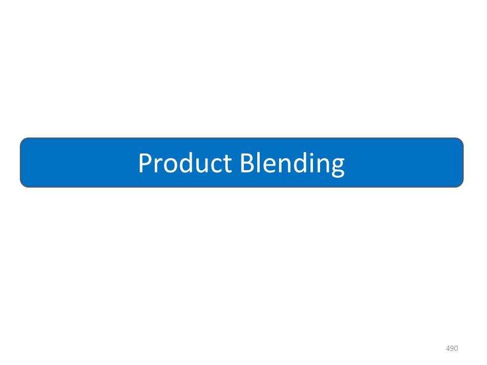 490 Product Blending