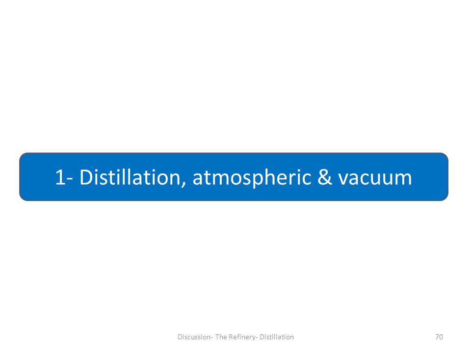 70 1- Distillation, atmospheric & vacuum Discussion- The Refinery- Distillation