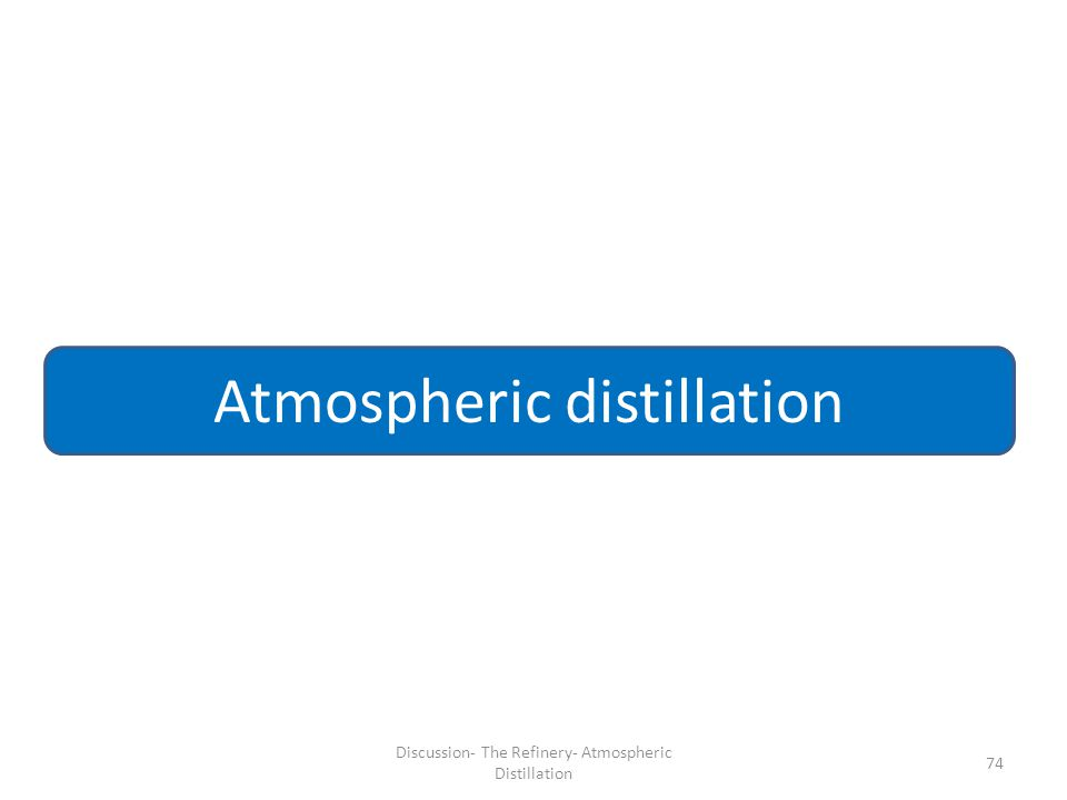 74 Atmospheric distillation Discussion- The Refinery- Atmospheric Distillation