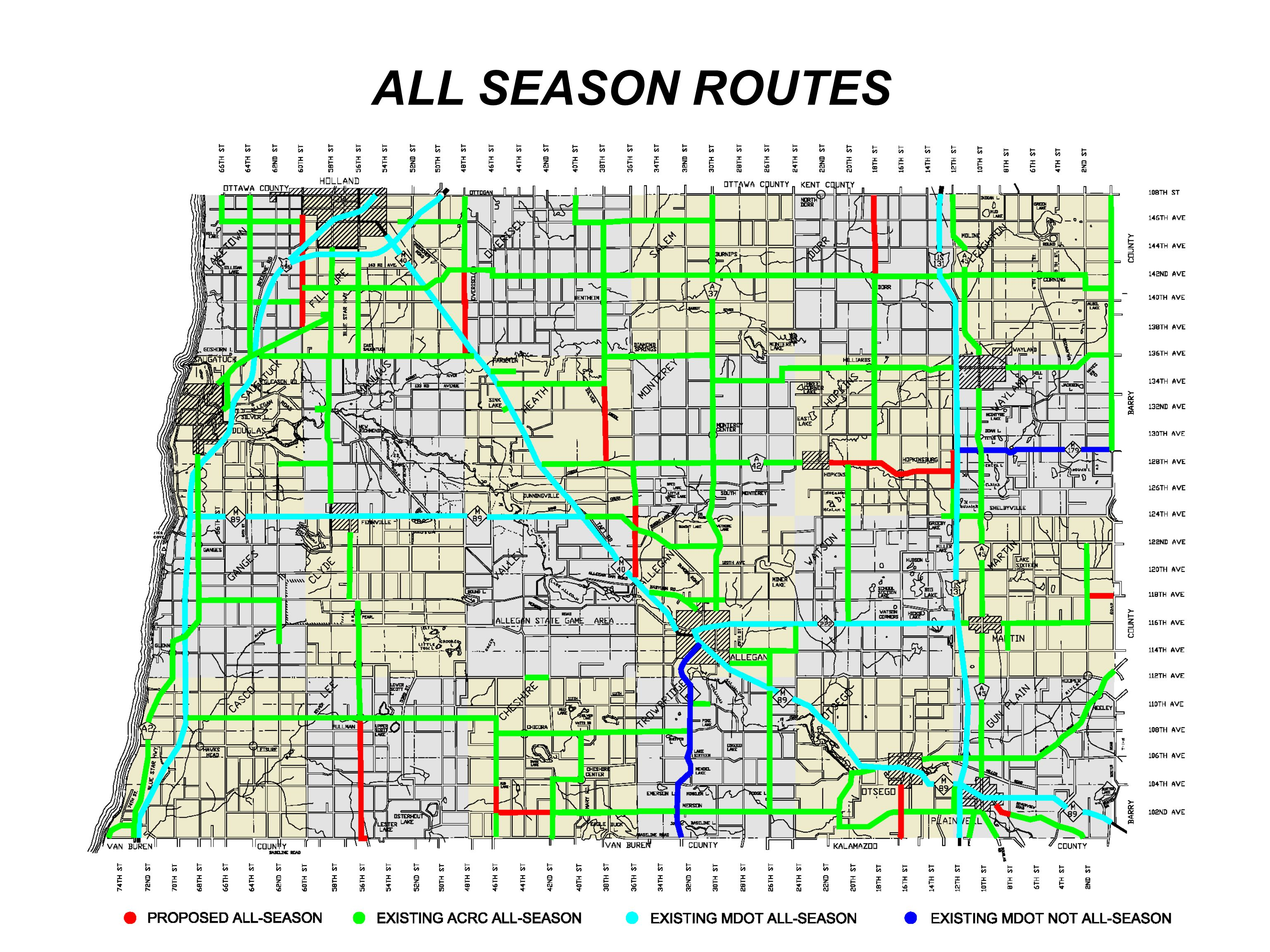 ALL SEASON ROUTES