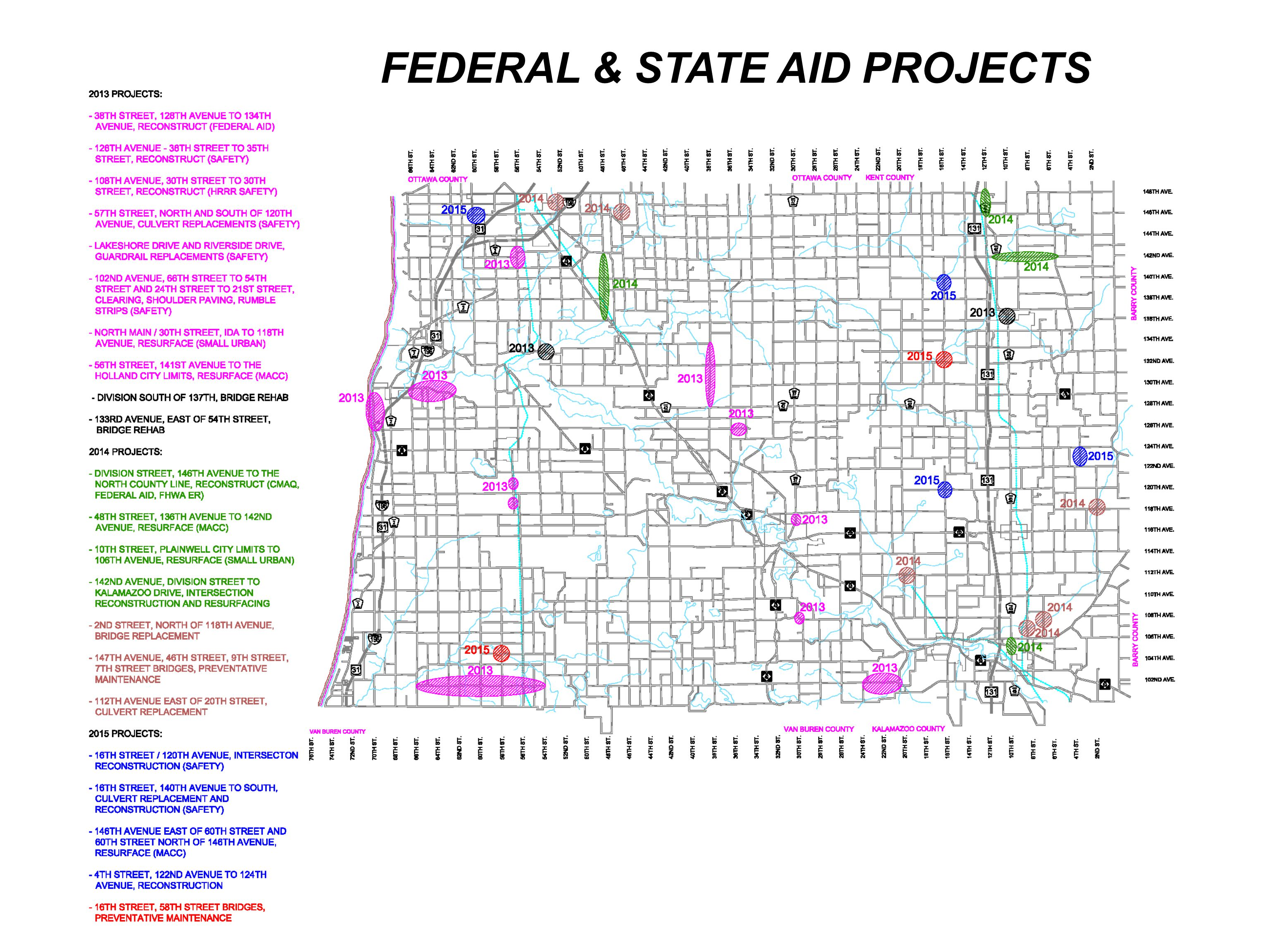 FEDERAL & STATE AID PROJECTS