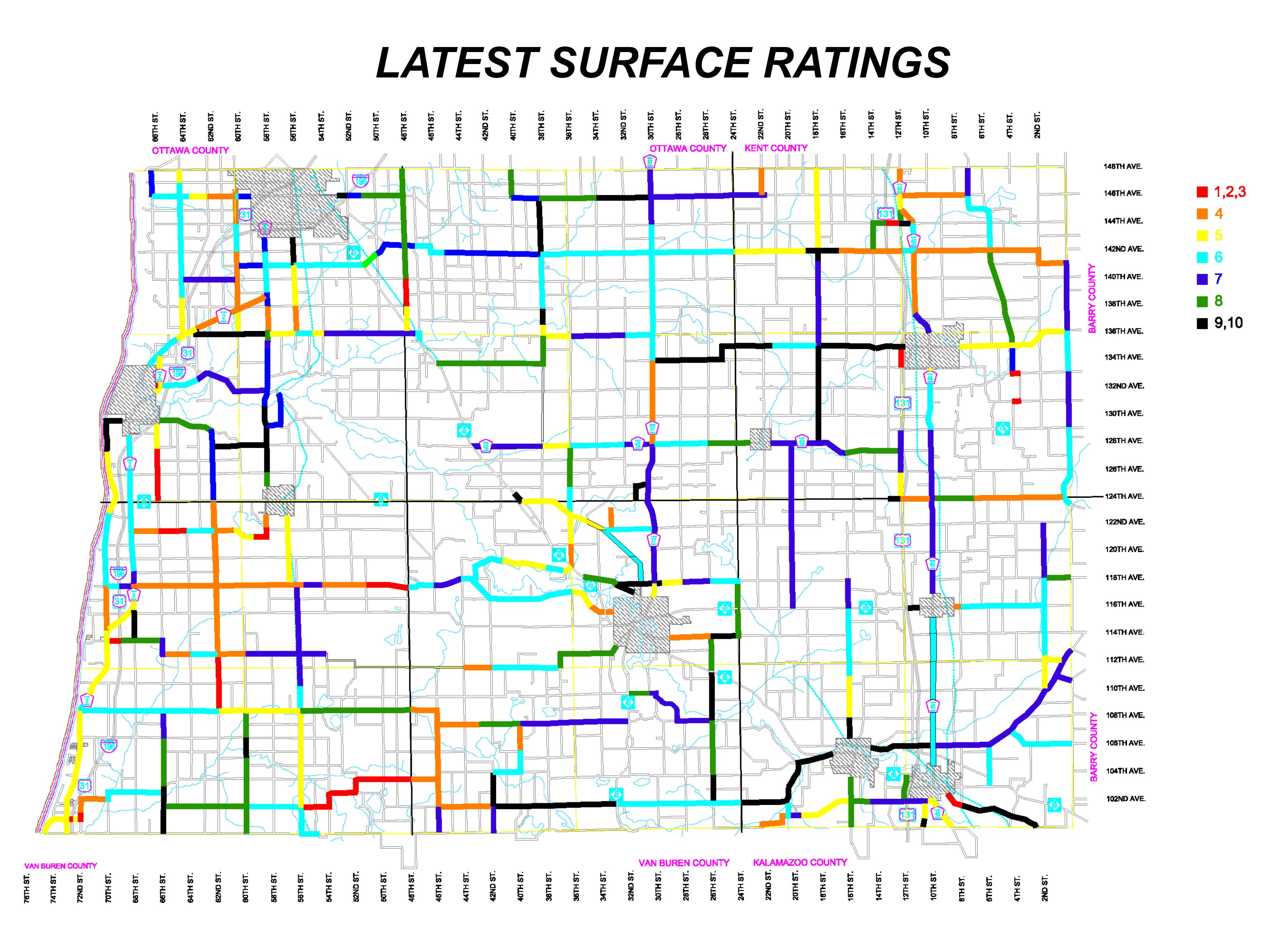 LATEST SURFACE RATINGS