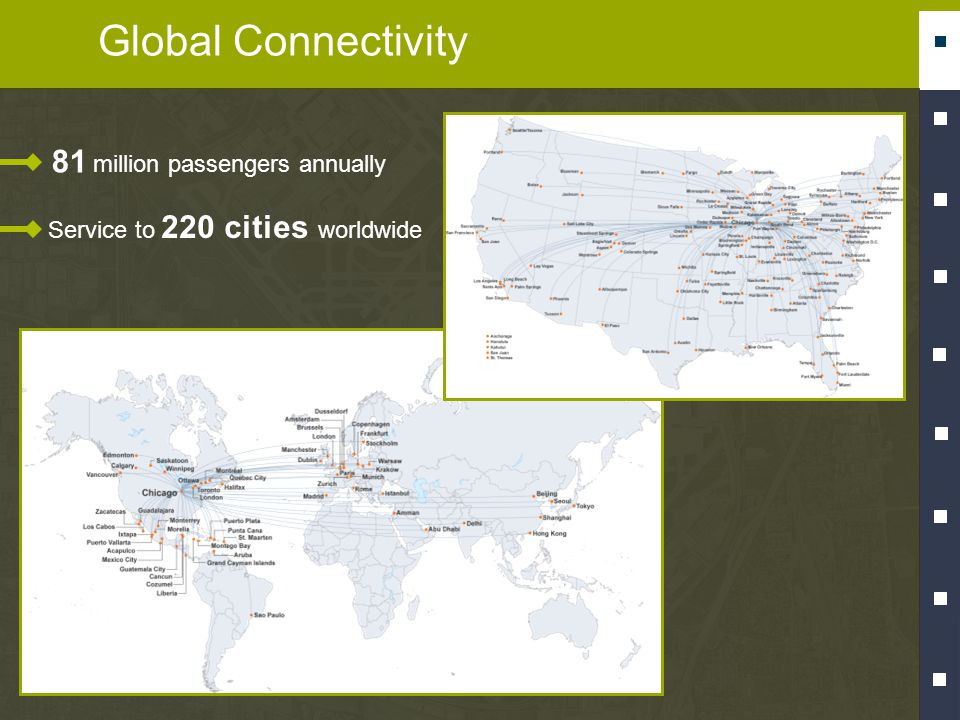 Global Connectivity Service to 220 cities worldwide 81 million passengers annually
