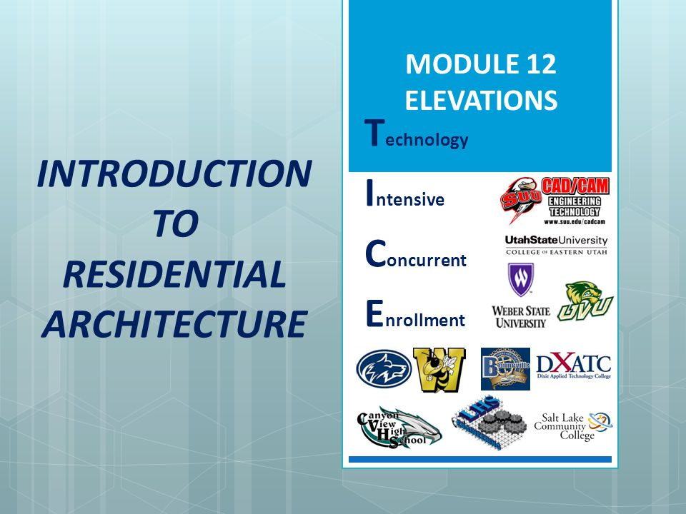 MODULE 12 Elevations 12.5.5 Elevation Terminology What is a Gable roof.