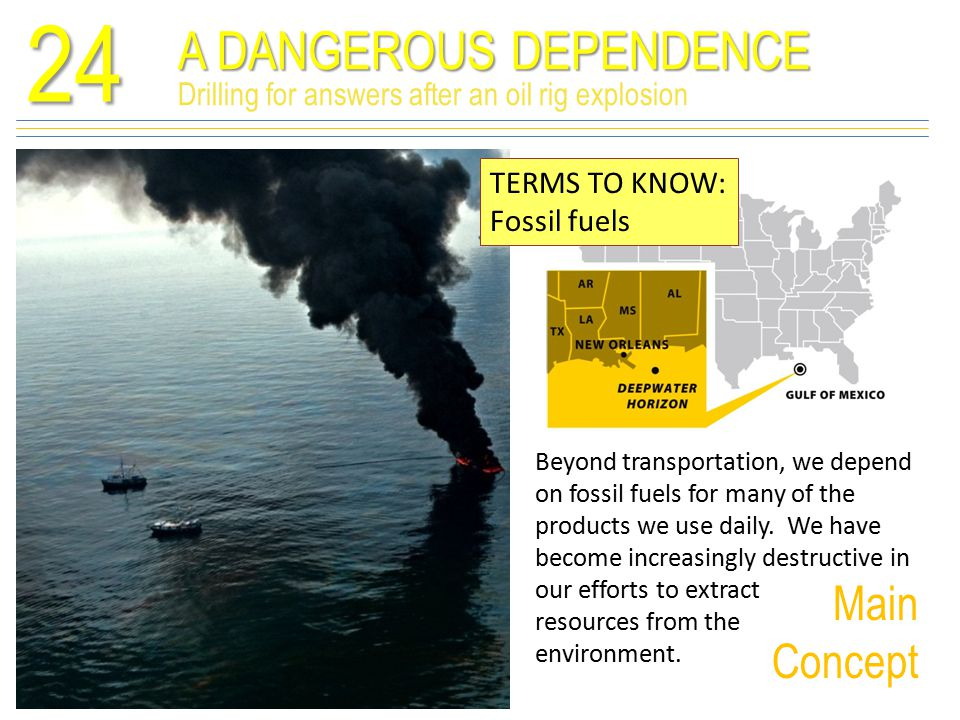Oil consumption drives extraction24 TERMS TO KNOW: Energy security Reserves of nonconventional petroleum deposits exist, but they cost more and are and environmentally damaging to extract.