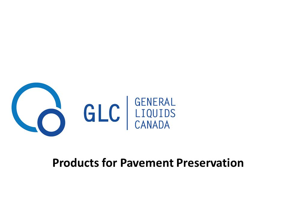 Products for Pavement Preservation