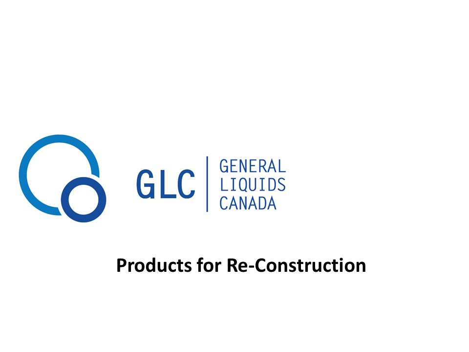 Products for Re-Construction