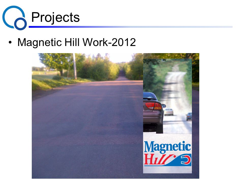 Projects Magnetic Hill Work-2012