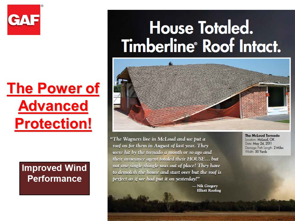 4 The Power of Advanced Protection! Improved Wind Performance