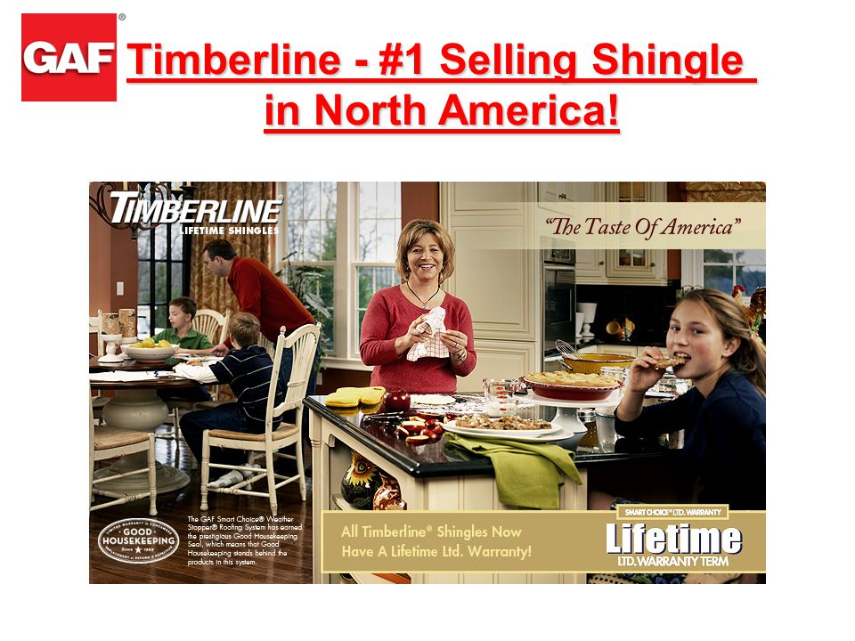Timberline - #1 Selling Shingle in North America!