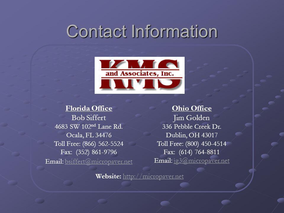 Contact Information Florida Office Bob Siffert 4683 SW 102 nd Lane Rd. Ocala, FL 34476 Toll Free: (866) 562-5524 Fax: (352) 861-9796 Email: bsiffert@m