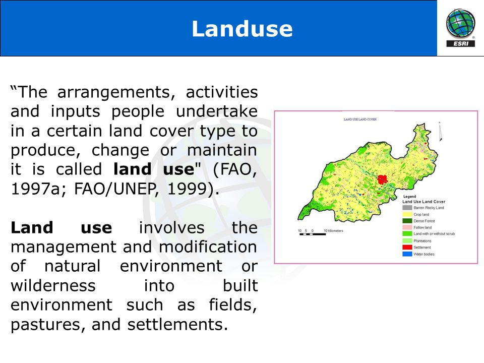 Landcover & Landuse (LULC) Map When only land cover represented through map is known as Land Cover map When only land use represented through map is known as Land Use map When both land cover and land uses are represented through a single map is known as Land Cover / Land Use (LULC) map.
