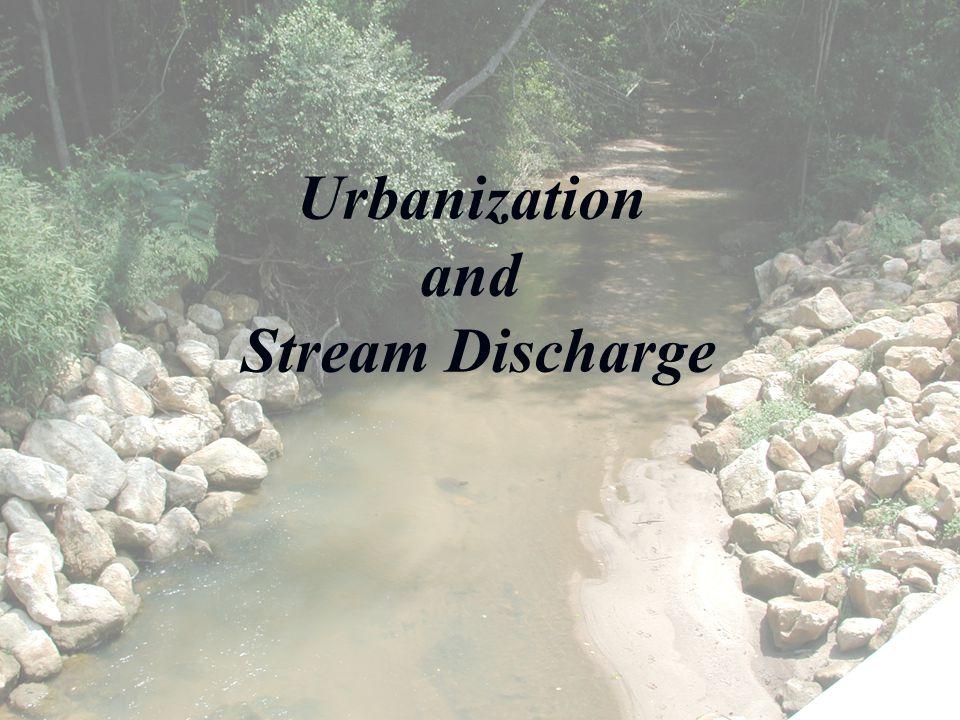 Urbanization and Stream Discharge