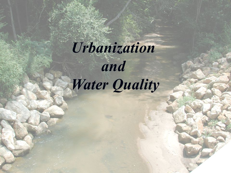 Urbanization and Water Quality