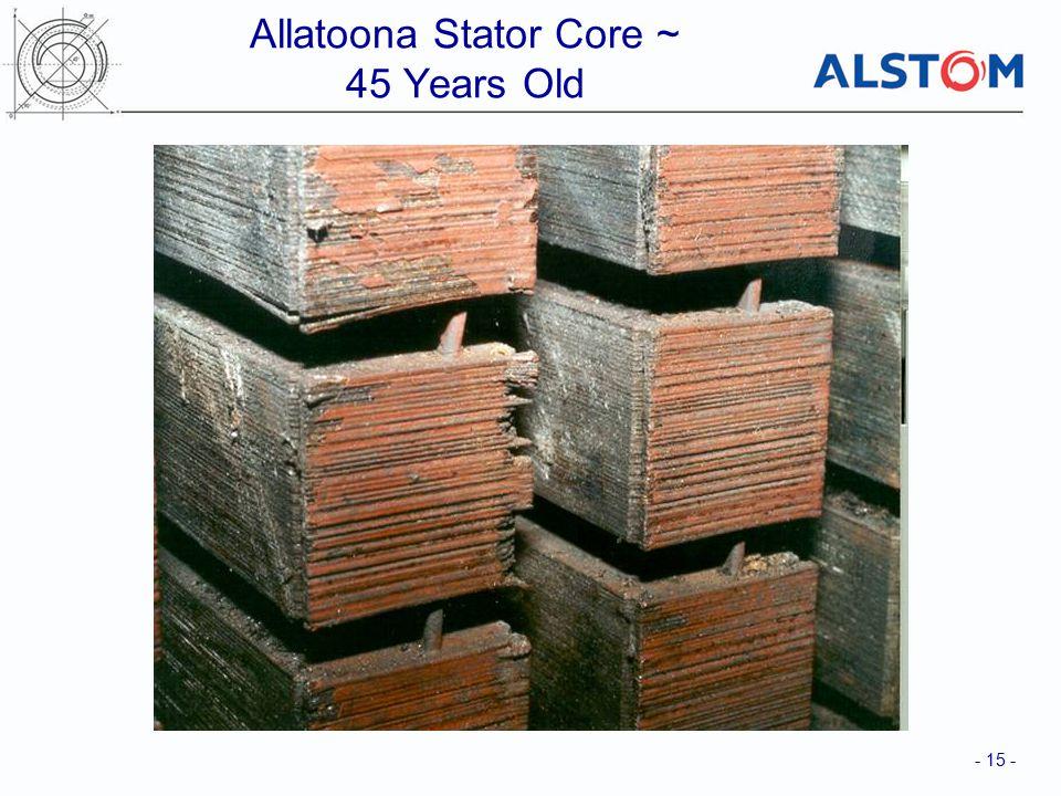 - 15 - Allatoona Stator Core ~ 45 Years Old