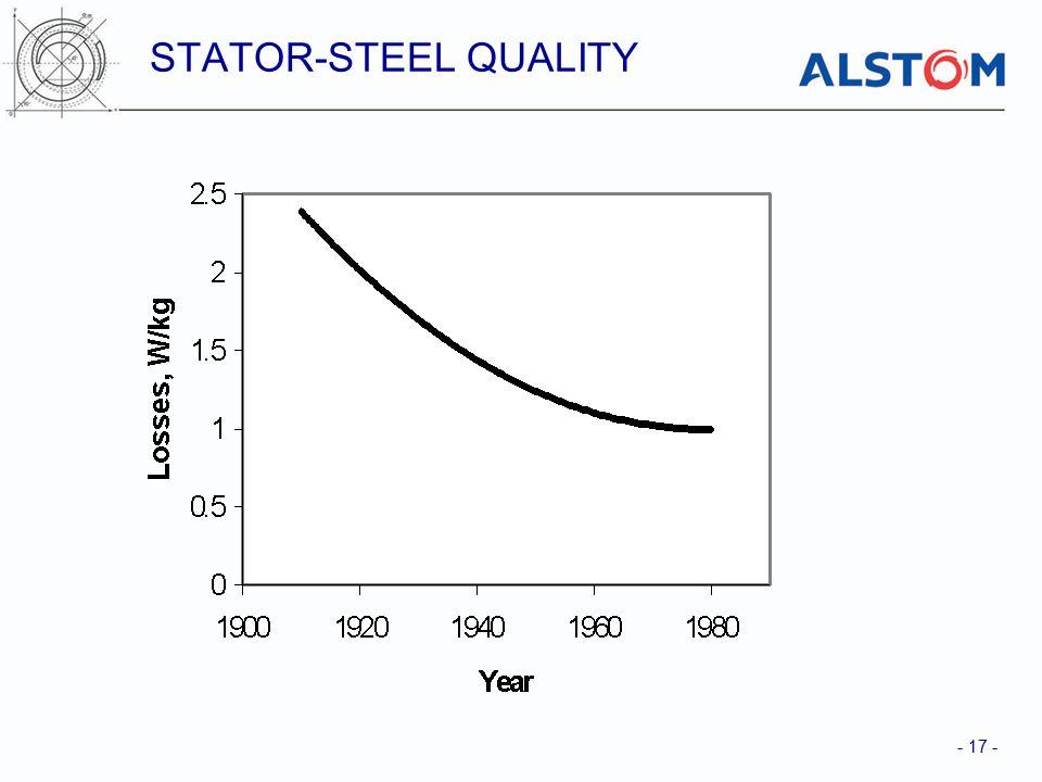 - 17 - STATOR-STEEL QUALITY