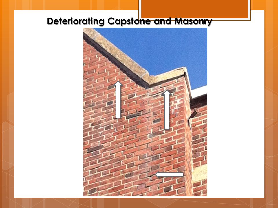 Deteriorating Capstone and Masonry