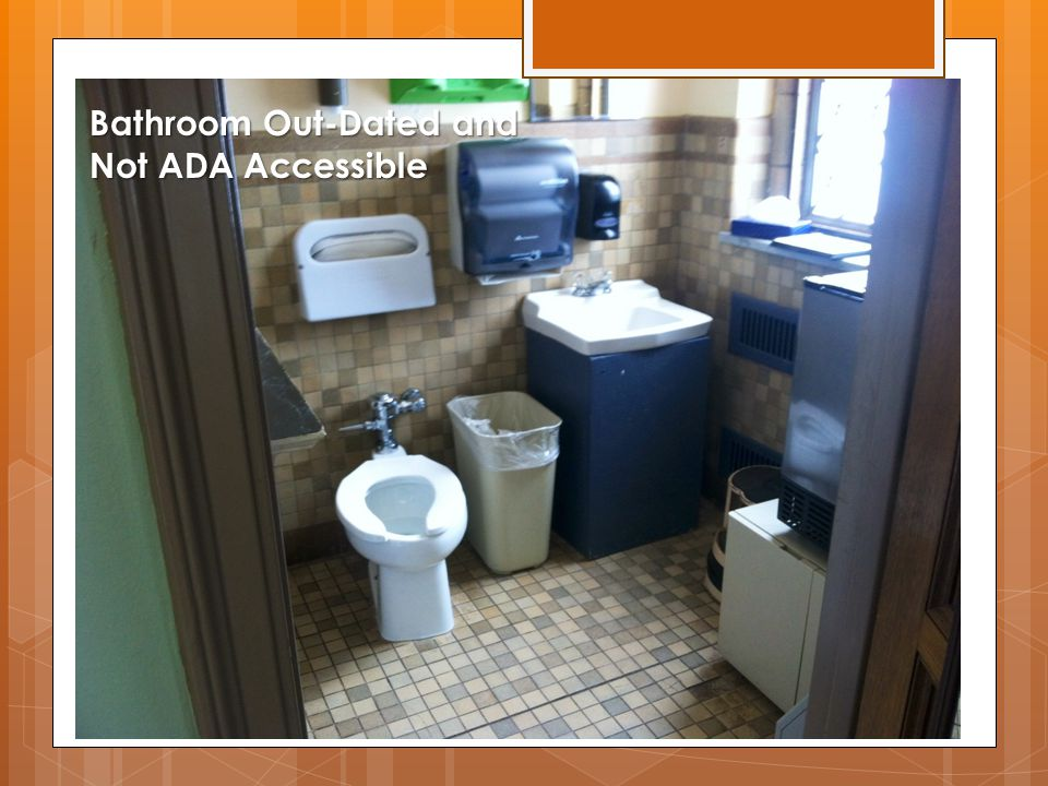 Bathroom Out-Dated and Not ADA Accessible