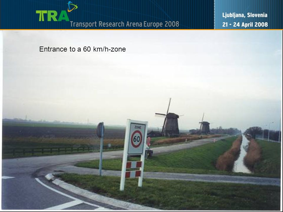 9 Entrance to a 60 km/h-zone