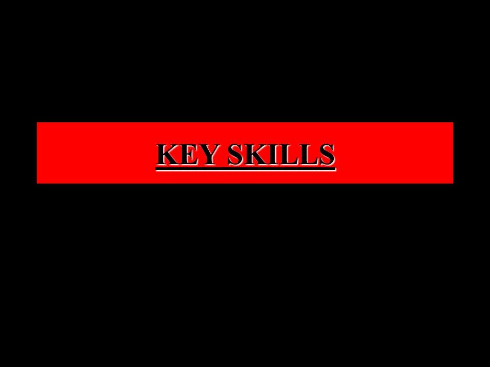 KEY SKILLS KEY SKILLS