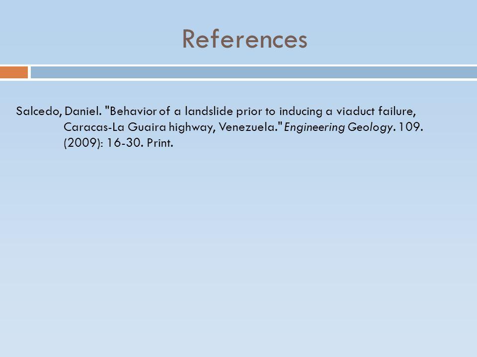 References Salcedo, Daniel.