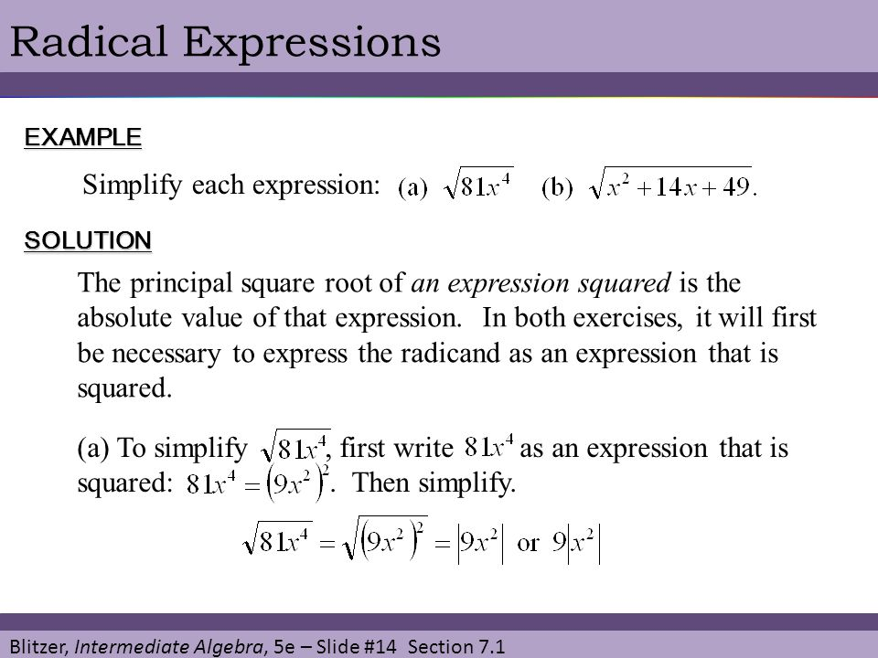 (a) To simplify, first write as an expression that is squared:.