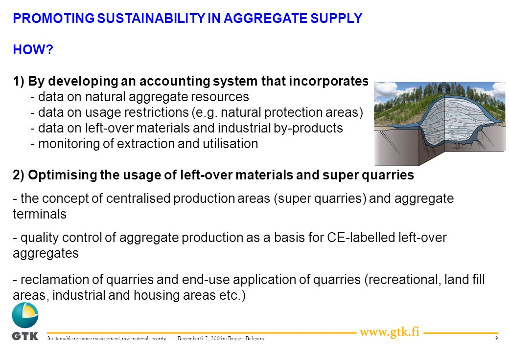 9Sustainable resource management, raw material security........