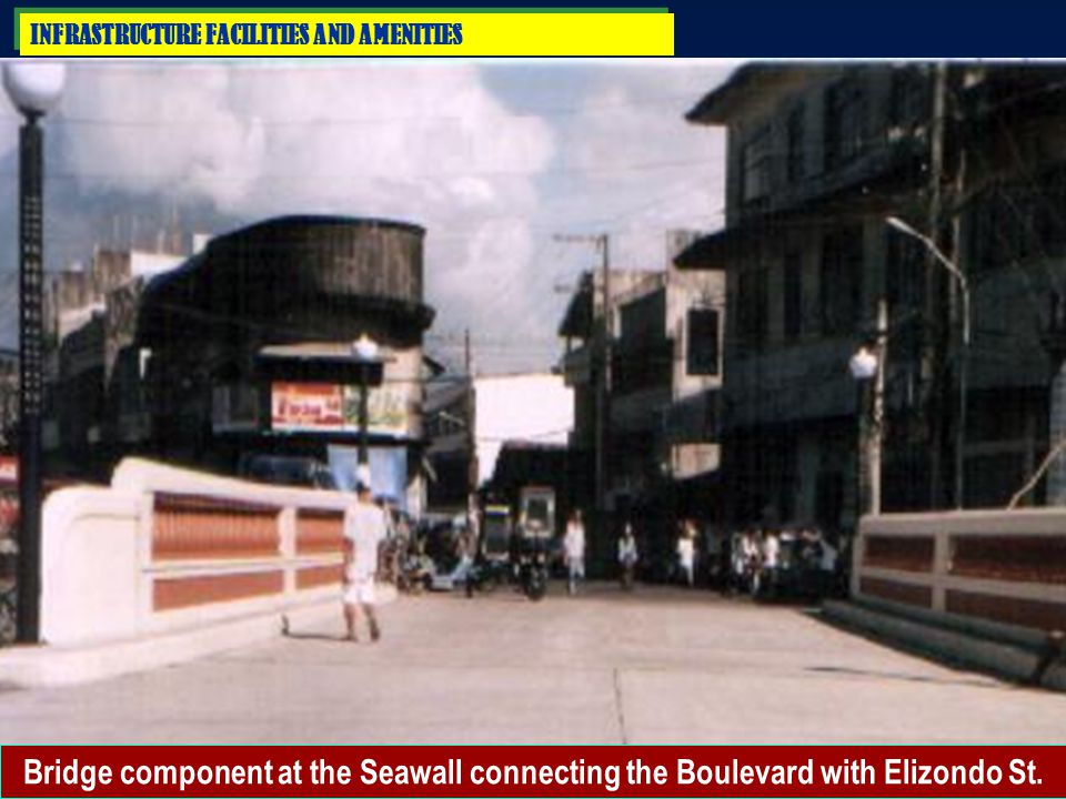 INFRASTRUCTURE FACILITIES AND AMENITIES 2. FLOOD CONTROL PROJECTS d) Construction of Seawall (1 Section)  Total Length:250.60 l.m.  Tota Project Cos