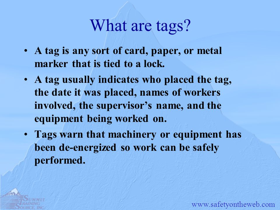 www.safetyontheweb.com Special Situations Some Machines May Not Be Locked Out In rare cases, a machine or equipment is not able to be locked out due to its design.