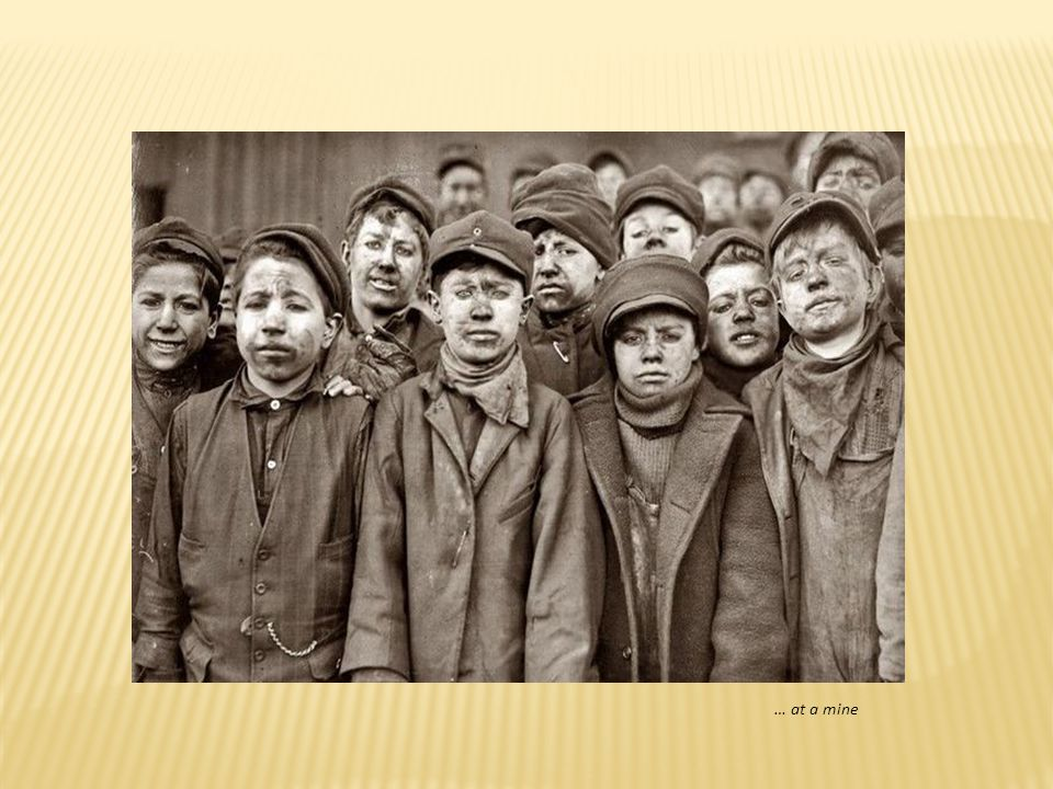 Child labor in a spinning mill….