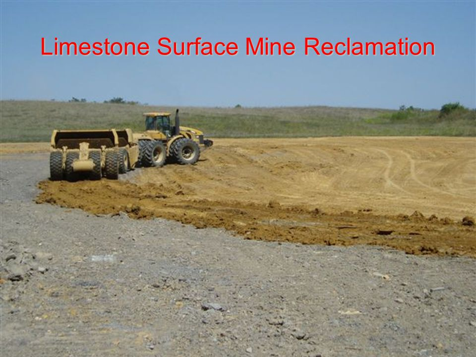 Limestone Surface Mine Reclamation