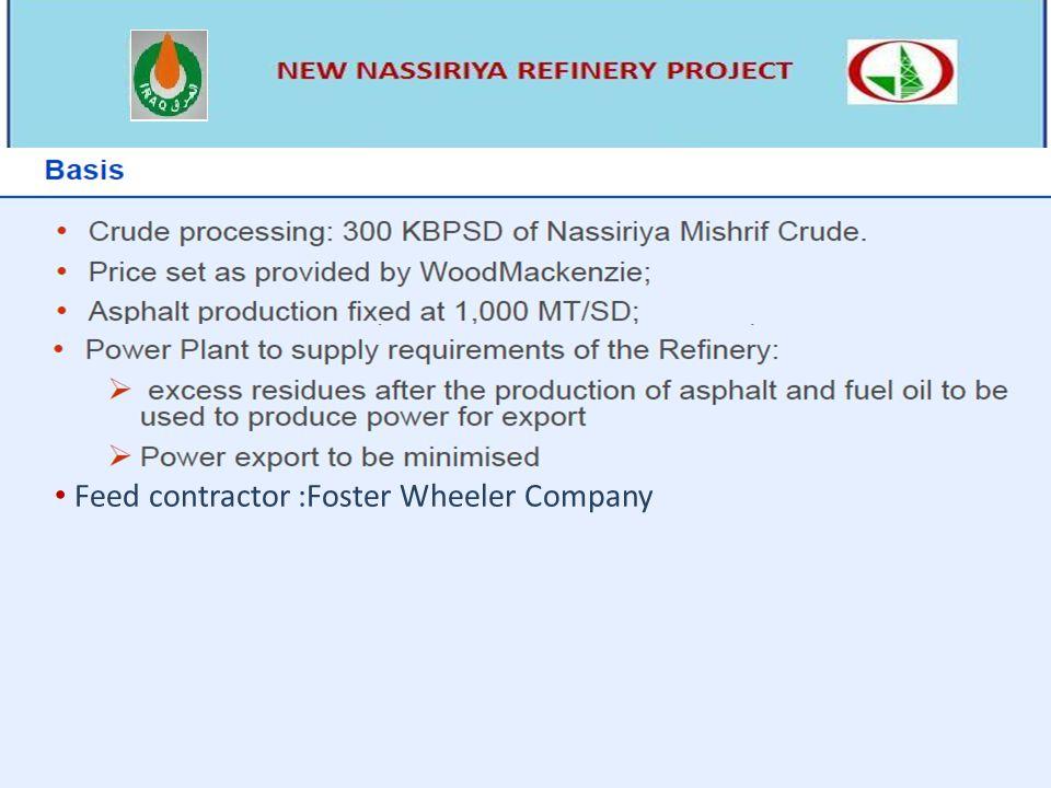 Feed contractor :Foster Wheeler Company